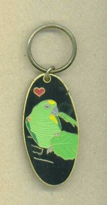 Vintage Green Parrot Key Chain