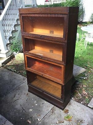 Antique 6 Part Oak Globe Wernicke Sectional Bookcase Pattern 811 Grade 299