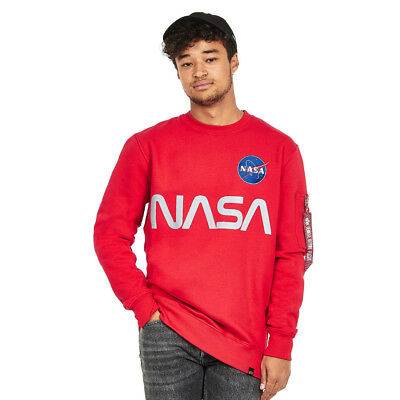 Alpha Industries - NASA Reflective Sweater Speed Red Pullover Rundhals