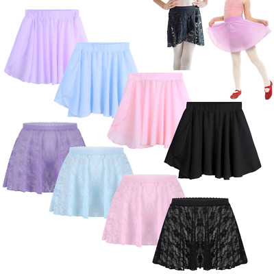 Toddler Kids Girls Ballet Dance Dress Gymnastics Skating Wrap Leotard Tutu Skirt
