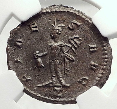 CLAUDIUS II Gothicus Authentic Ancient 268AD Roman Coin MERCURY NGC i73297