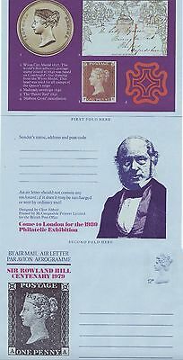 GB Stamps Aerogram / Air Letter APS44 - 12p Death of Rowland Hill Issue 1979