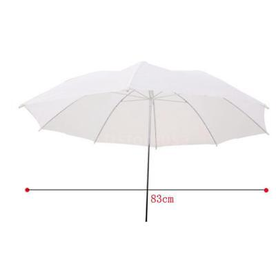 33in 83cm Soft Umbrella Translucent White for All Studio Flash U2F4