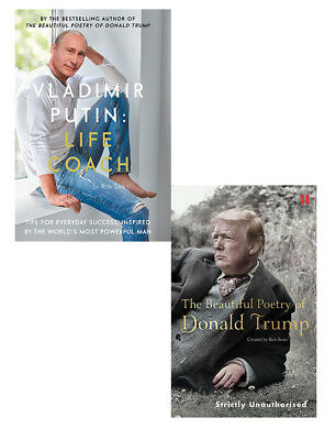 Vladimir Putin Beautiful Poetry of Donald Trump 2 books collection by Rob Sears