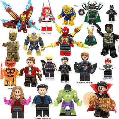 Marvel Avengers Mini Figures Building Blocks Super Hero Hulk Kids Toys Gift