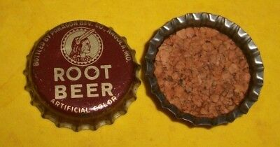 (1) Reflared 1950/60s Pokagon Root Beer Angola Indiana Cork Soda Btl Cap RARE