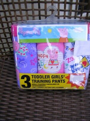 "2018 -   ""PEPPA PIG"" GIRL'S  3 pr.. PKG. ASSORTED TRAINING  PANTS  SIZE 2T NWT"