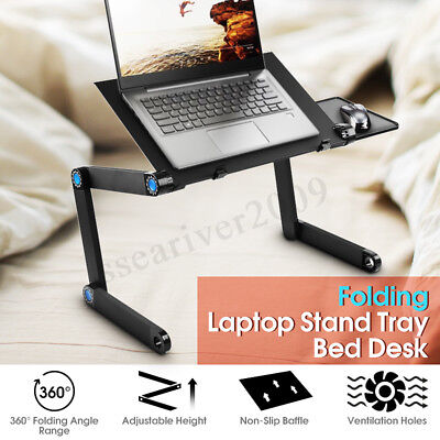 Portable 360° Folding Laptop Notebook Desk Table Stand Bed Sofa Holder Tray US