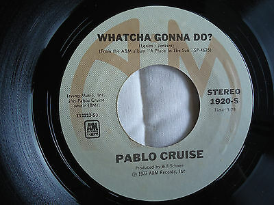 """PABLO CRUISE: 45rpm """"Whatcha Gonna Do/Atlanta June"""" A&M-1920-S 1977 PLAYED VG+"""