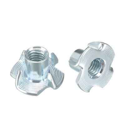 50Pcs M6 4 Pronged Tee Nut T-Nut For Rock Climbing Holds Wood Cabinetry
