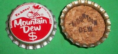 (1) Unused NOS 1960s Era Mountain Dew $ Sign Gallup NM Cork Soda Bottle Cap