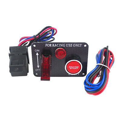 RACING CAR ENGINE Start on Toggle Switch Panel With Wiring Harness on