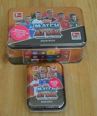 Topps Match Attax 18/19 Mega Tin Box Dose + Mini Tin 3x limitierte 2018/2019