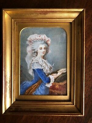 Antique19Thc Country House  Portrait Miniature Of Marie Antoinette Signed S Bird