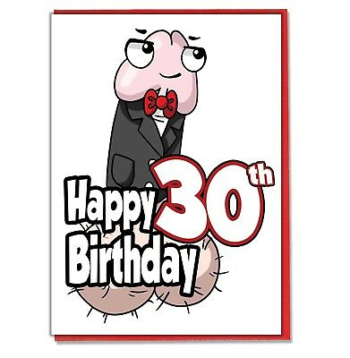 Funny Willy 30th Birthday Card