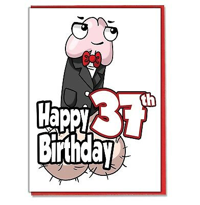 Funny Willy 37th Birthday Card