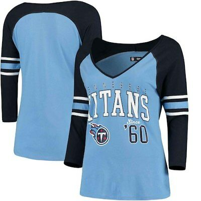TENNESSEE TITANS 5TH   Ocean by New Era Girls Youth Jersey Slub 3 4 ... 2a171d9e8