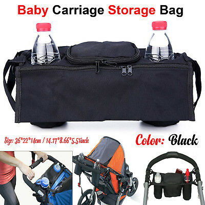 Universal Baby Pushchair Pram Organiser Stroller Buggy Storage Bag Bottle Holder
