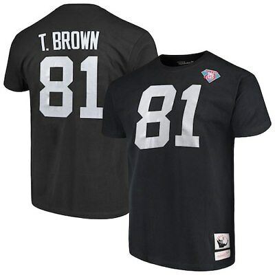 Tim Brown Oakland Raiders Mitchell   Ness Retired Player Name   Number ... 4fd43ce2d60b