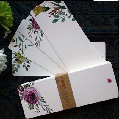 40Pcs Vintage Floral Paper Blank Charm Bookmarks Gifts Tags Postcard Card Set CB
