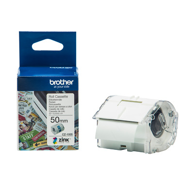 Original Brother CZ-1005 Full Colour 50mm x 5m Continuous Label Roll For VC-500W