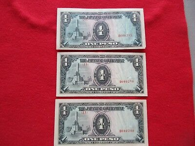 Japanese Currency, Japan 1 Pesos Note,   Ungraded, 3 Available     #day-02729