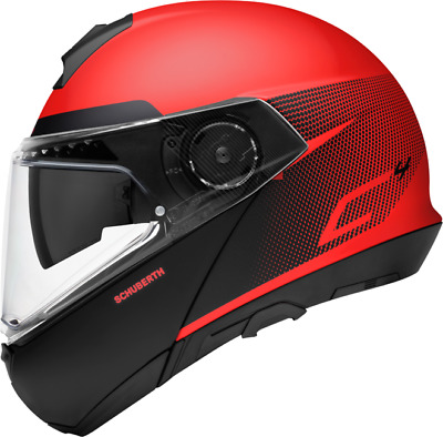 Details zu  Schuberth C4 Klapphelm Motorradhelm Dekor Resonance Red / Rot