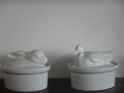 Lot de terrines en porcelaine blanche