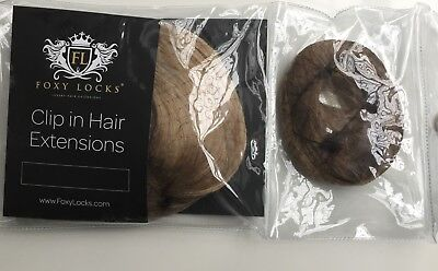 Foxy Locks Genuine Seamless Hair Extensions - Light Ash Brown/Dark Ash Blonde