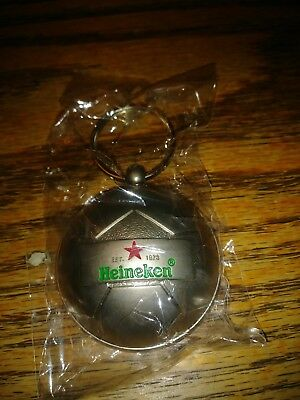 Lot of 2 Heineken Soccer Ball Key Chain Bottle Opener Green Letters Red Star new