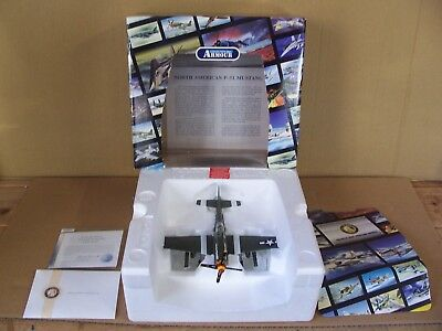 Vtg Franklin Mint Precision Diecast Model Armour Collection P-51 Mustang WW-2