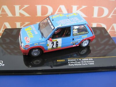 Die cast 1/43 Modellino Auto Renault 5 GT Turbo Rally Monte Carlo 1988 by Ixo