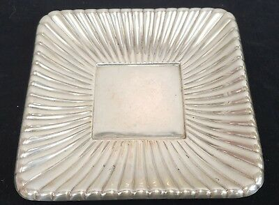 "Sterling Silver Reed & Barton Trajan 8 3/4"" Square Plate Disc 1960 12.41 Troy Oz"