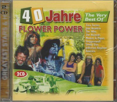 40 Jahre Very Best Of Flower Power - 2 CD, Tina Turner, Jimi Hendrix, The Who...