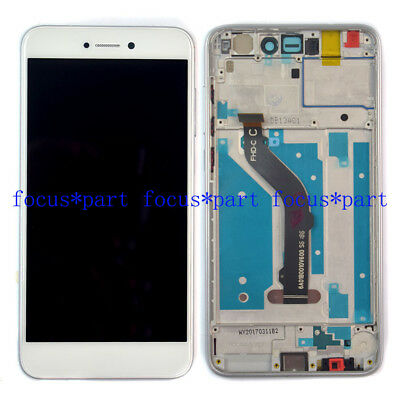 White Huawei P8 Lite 2017 PRA-LX1 LCD Display Touch Digitizer Assembly Frame