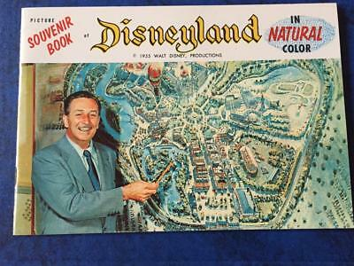 PICTURE SOUVENIR of DISNEYLAND ,in NATURAL COLOR-- 1955 OPENING YEAR