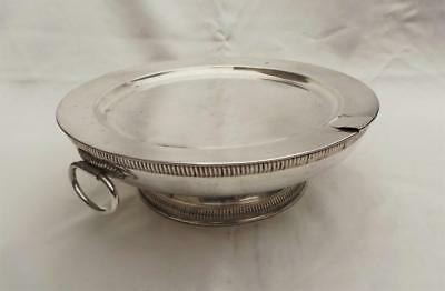 Finest Quality Georgian Period French Fused Plate Silver Hot Water Warming Stand