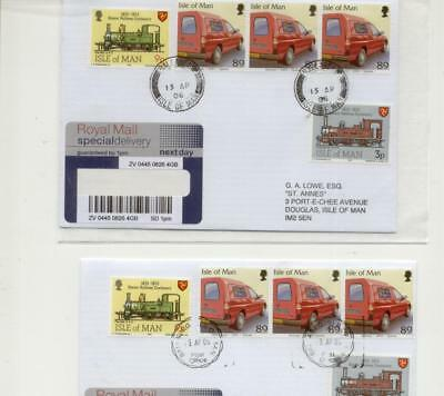 Isle of Man 2006 Pair Ballabeg Registered Covers, with different cancels