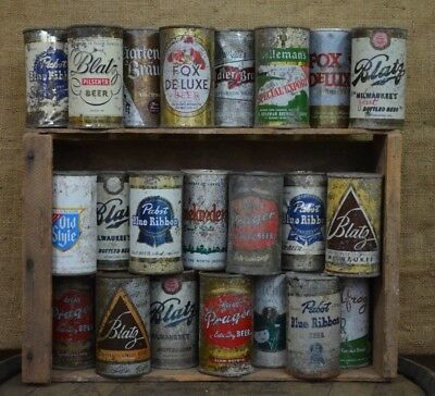 Lot of Vintage Beer Cans and Soda Bottles - 43 Pieces
