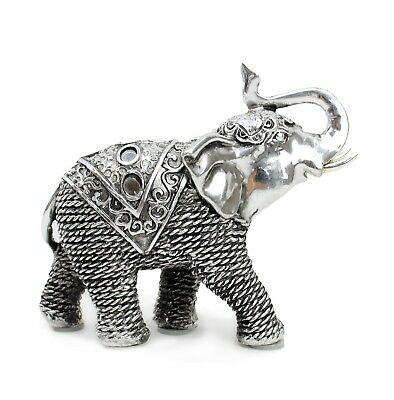 "5.5""(L) Elephant Wealth Lucky Figurine Home Decor Housewarming Gift"