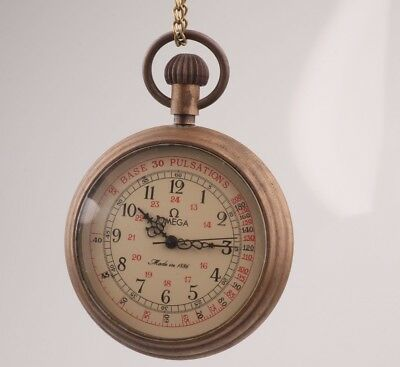 Vintage Chinese Bronze Pendant Pocket Watch Mechanized Gift Old Collection