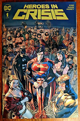 Heroes In Crisis #1 Gold FOIL Exclusive Clay Mann Variant DC Boutique NM
