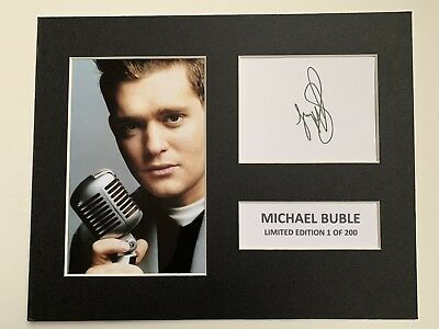 Limited Edition MICHAEL BUBLE Music Signed Mount Display