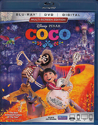 Coco (Blu-ray/DVD, 2018, 2-Disc Set) VG