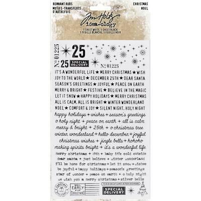 New Tim Holtz Idea-Ology Stickers Remnant Rubs Rub-Ons - CHRISTMAS - #TH93748