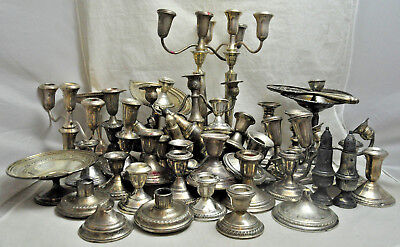 Lot of Sterling Silver Weighted Scrap 11837 Grams