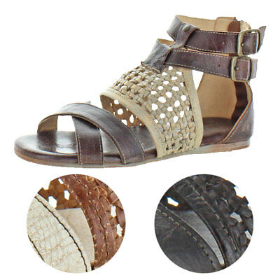 3ec439a97c24 Bed Stu Women s Capriana Leather Gladiator Flat Sandal Shoe