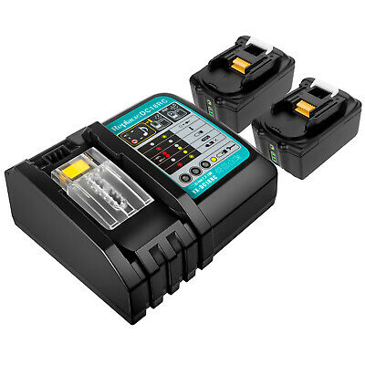 18V Lithium Battery for Makita BL1830 BL1840 BL1860B LXT400 & Fast Charger