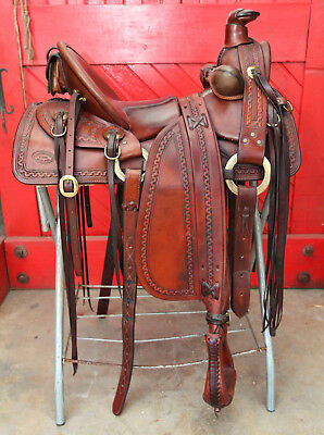 EXCELLENT Old Time 1/2 Seat Cheyenne SADDLE By SAWTOOTH Saddle Co.& EXTRAS
