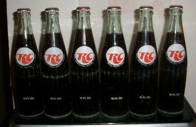 (6) Full (RC Cola) All Dated 1969 RC Cola Burlington VT 10oz ACL Soda Bottles
